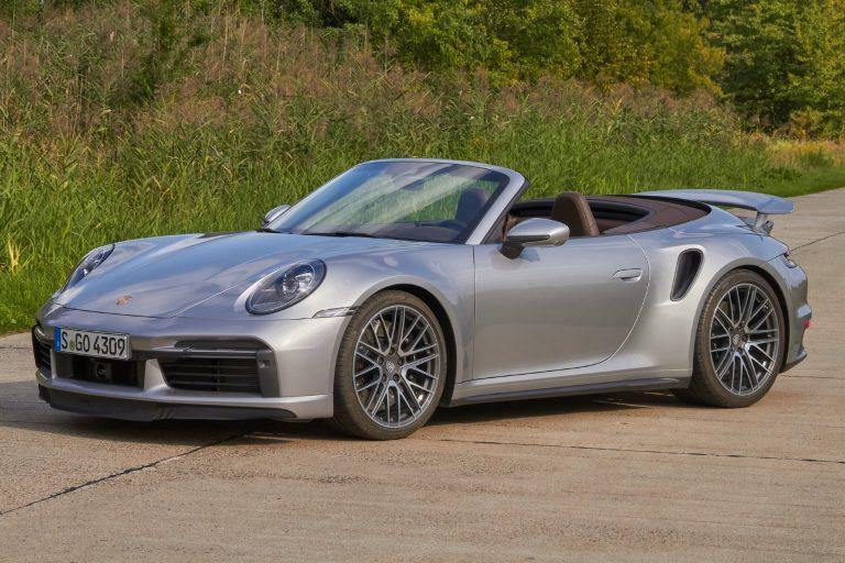 Das Porsche 911 Turbo/Turbo S Cabrio – Frontansicht