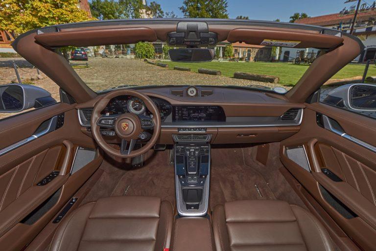 Das Porsche 911 Turbo/Turbo S Cabrio – Innenansicht
