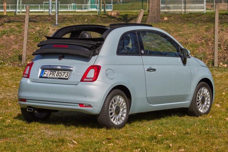 Fiat 500C Cabrio Rückansicht