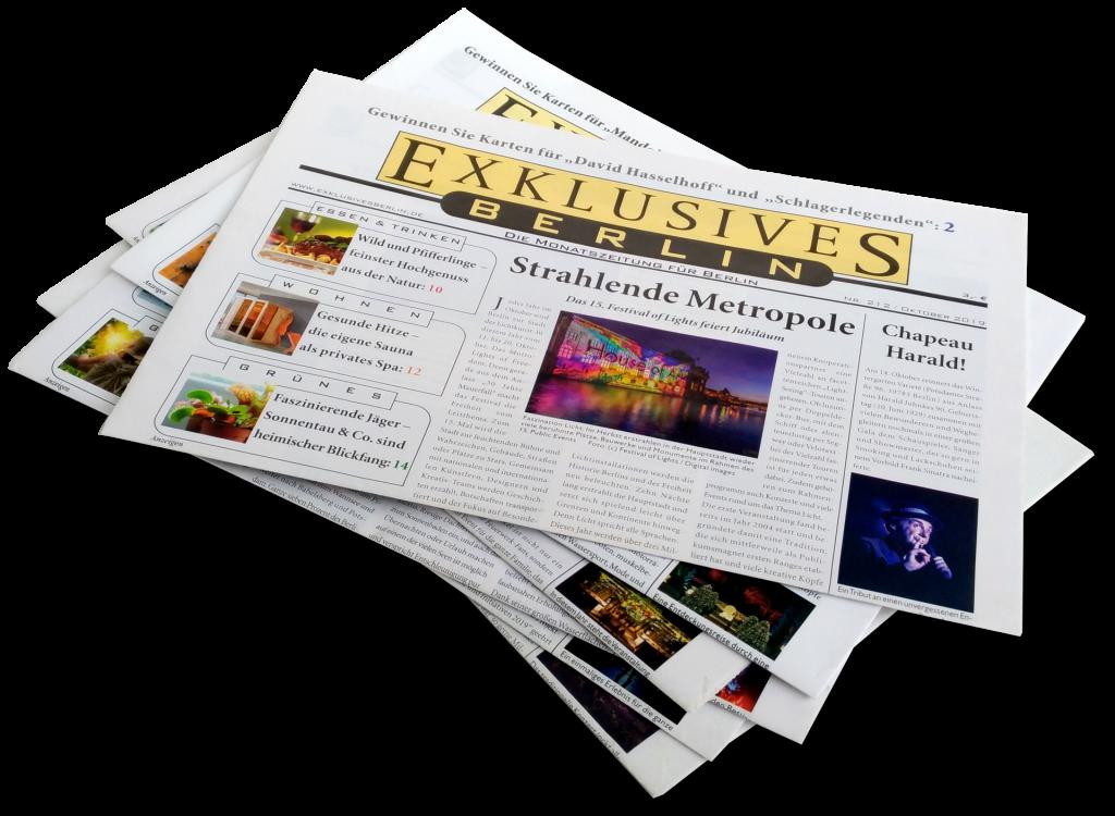 Exklusives Berlin Printmedium